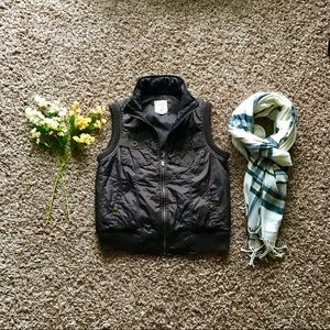 Lined utility puffer jacket